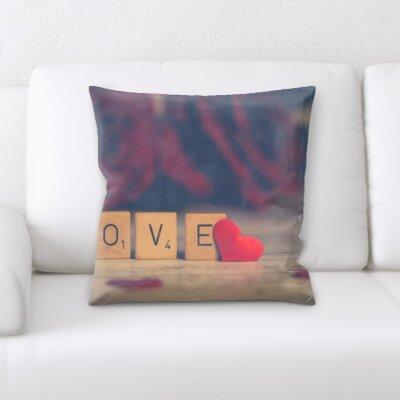 Boulanger Words of Love Throw Pillow