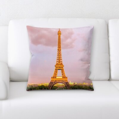 Brumbelow Eiffle Tower Throw Pillow