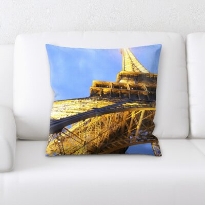 Brumfield Eiffle Tower Throw Pillow