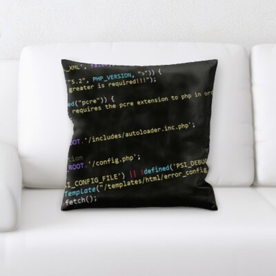 Brunell Coding Throw Pillow