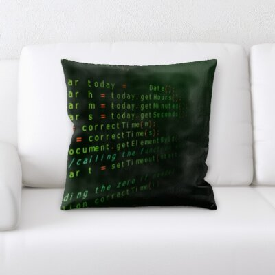 Krish Coding Throw Pillow