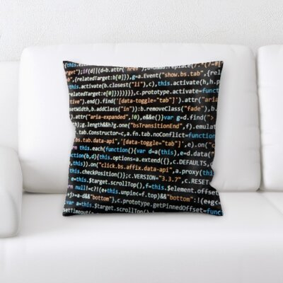 Bruner Coding Throw Pillow