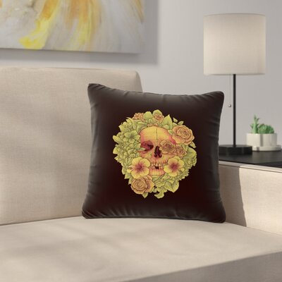 BarmalisiRTB Fragrant Dead Illustration Outdoor Throw Pillow Size: 16 H x 16 W x 5 D