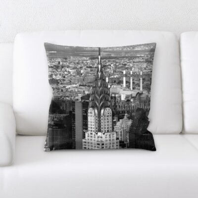Bourget City of New York Throw Pillow