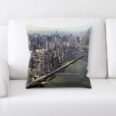 Bourgoin City of New York Throw Pillow