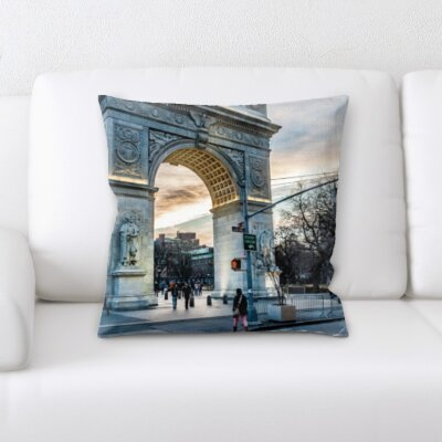 Bourland City of New York Throw Pillow