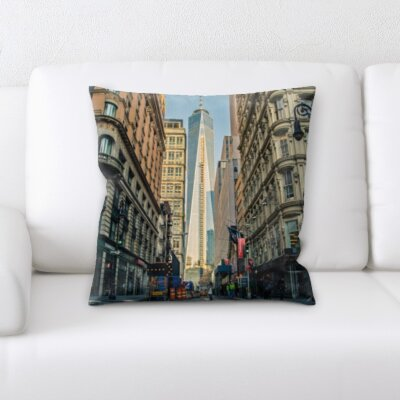 Bourque City of New York Throw Pillow