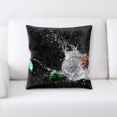 Buckland Slow Motion Water Splash Throw Pillow