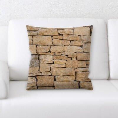 Burwell Brick Textures Throw Pillow