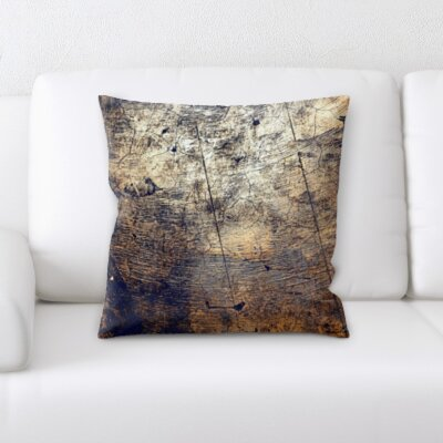 Gossage Close Up Wood Texture Throw Pillow