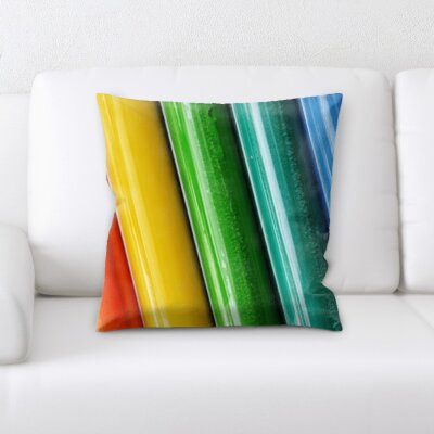Holeman Colored Pencils Throw Pillow