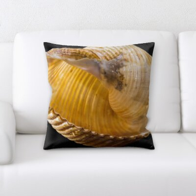 Hornback Close Up Shell Throw Pillow