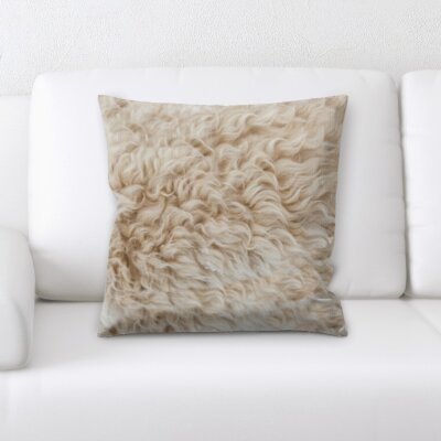 Channell Fur Texture Throw Pillow