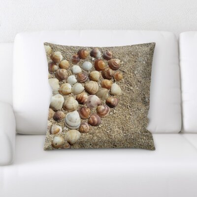 Hornbuckle Sea Shell of Heart Throw Pillow
