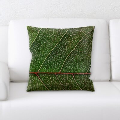 Belapais Leaf Textures Throw Pillow
