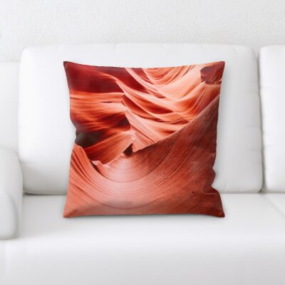 Calhoon Rocky Cave Textures Throw Pillow