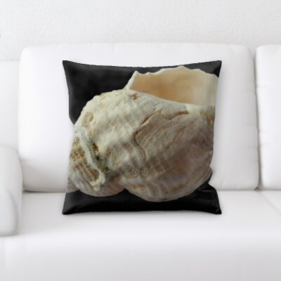 Hosley Shell on a White Background Throw Pillow