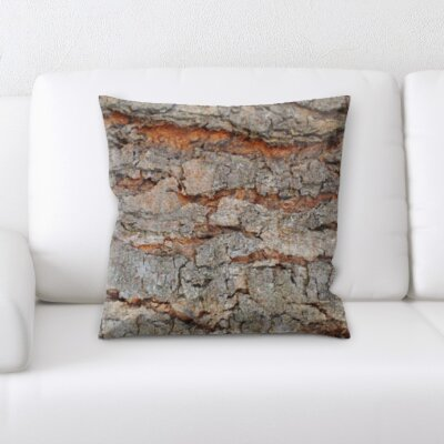 St George Tree Bark Picture Throw Pillow