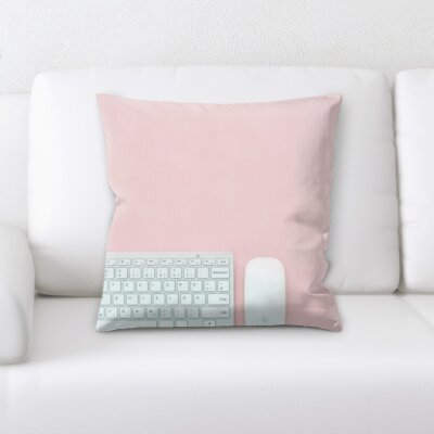 Buco Computer and Mouse Throw Pillow