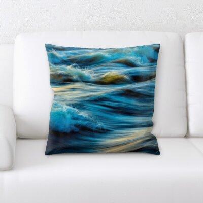 Cambra Water Textures Throw Pillow