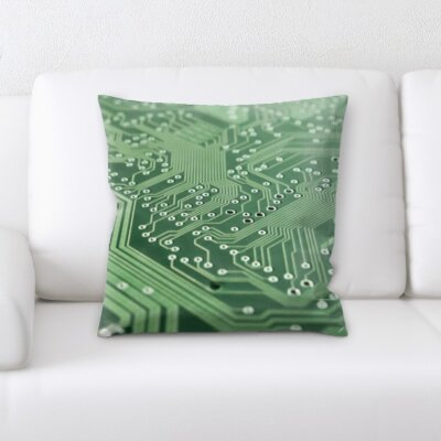 Buda Computer Close Up Parts Throw Pillow