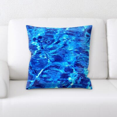 Campa Water Textures Throw Pillow