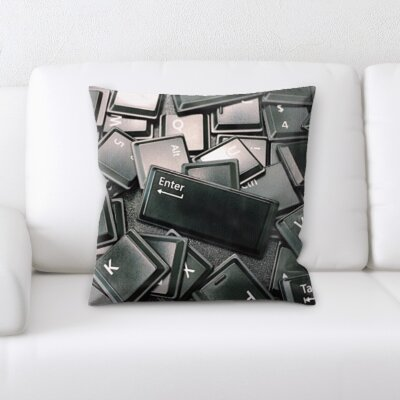 Burholme Keyboard Throw Pillow