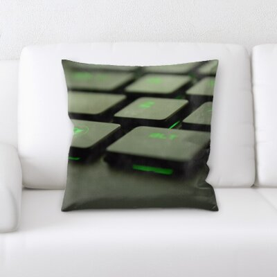 Burkart Keyboard Throw Pillow