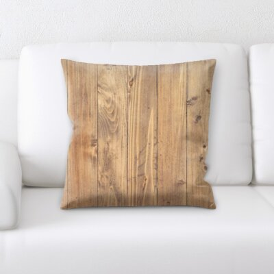 Malchow Wooden Textures Throw Pillow