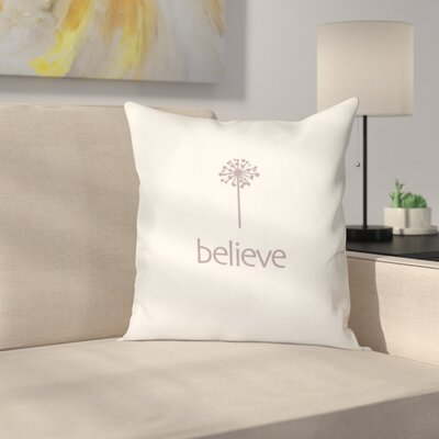 Miles City Make a Wish Throw Pillow Size: 26 H x 26 W, Color: Pink