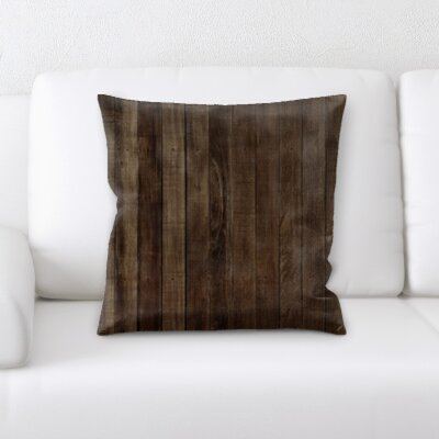 Malcom Wooden Textures Throw Pillow