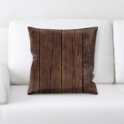Maldanado Wooden Textures Throw Pillow