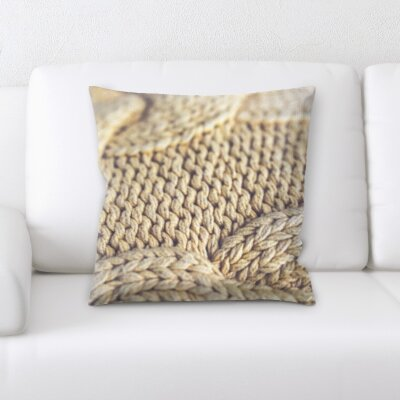 Camron Wool Texture Throw Pillow