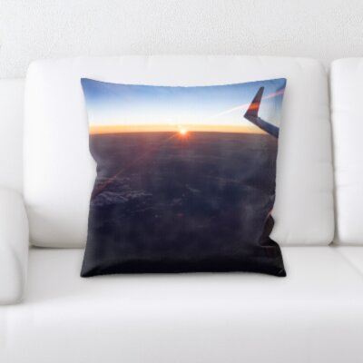 Cana Airplane Wing Throw Pillow
