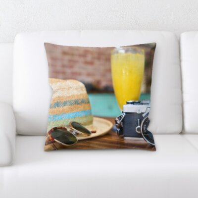 Canady Camera and Travel Gear Throw Pillow