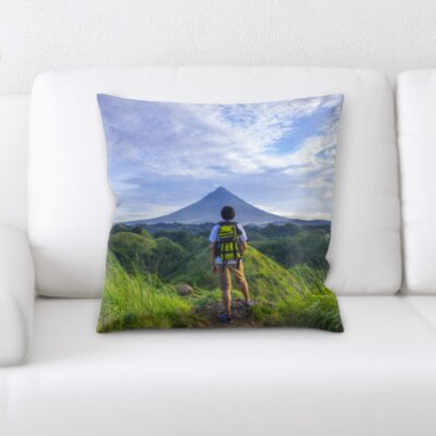 Canale Front of The Mountain Throw Pillow
