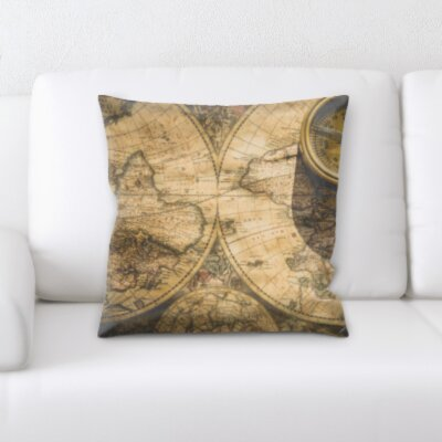 Perz Map and Campus Throw Pillow