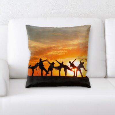 Canizales People together By The Sunset Throw Pillow
