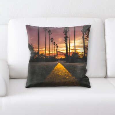 Cantero Road to Sunset Throw Pillow