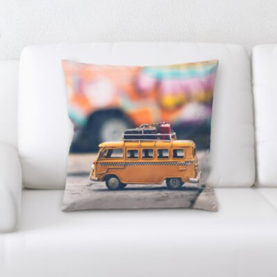 Canty Toy Camper Van Throw Pillow