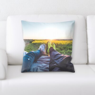 Cardoso Travel Two Couples Relaxing Throw Pillow