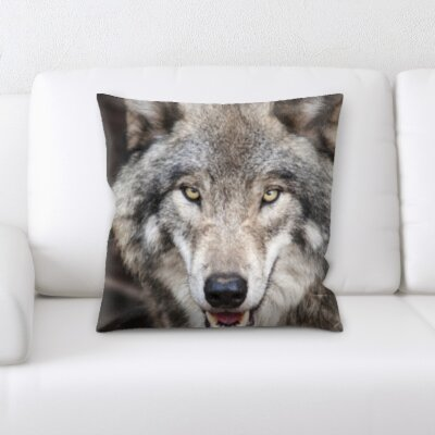 St Philips Marsh Wolf Coming Forward Throw Pillow