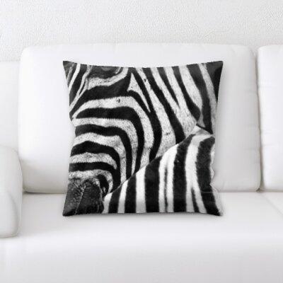 Peterkin Close Up Zebra Throw Pillow