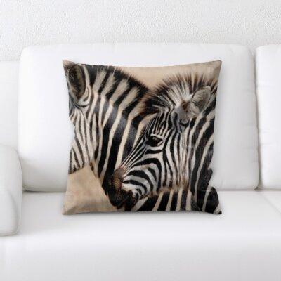 Peterman Two Zebras Throw Pillow