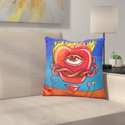 Flame Heart Throw Pillow