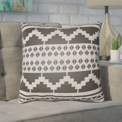 Adamson Geometric Throw Pillow Size: 18 H x 18 W x 3.5 D, Color: Black