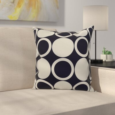 Meekins Small Modcircles Geometric Print Indoor/Outdoor Throw Pillow Color: Navy Blue, Size: 18 x 18