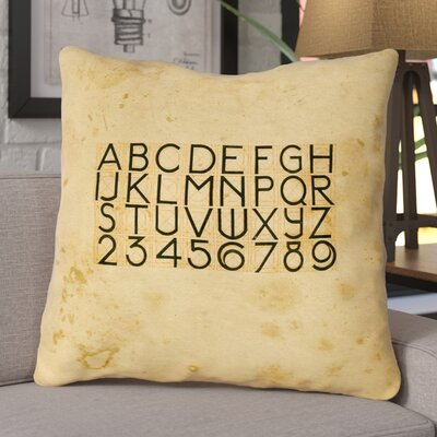 Daniyar Vintage Typography Euro Pillow with Zipper