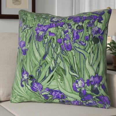 Morley Concealed Irises Euro Pillow Color: Green/Purple