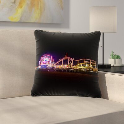 Juan Paolo Santa Monica Pier Outdoor Throw Pillow Size: 18 H x 18 W x 5 D